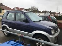 Daihatsu Terios + 1296cc Petrol 5 speed manual 5 door estate R Reg 01/08/1997 Purple/Silver