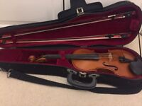 Full Size Westbury Violin 4/4 with case 2 bows and accessories