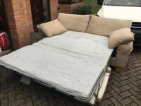 Good condition three seater sofa bed from NEXT