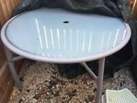 B & Q garden table + 6 chairs