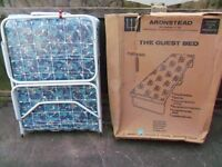 BRAND NEW ARONSTEAD Single folding guest camping bed + mattress BRITISH MADE