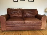 Barker and Stonehouse Leather Sofas x 2