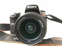 Sony a550 with 18-55 lens DSLR camera