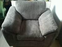 Armchair, silver/grey colour