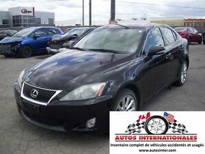 2010 Lexus IS 250 AWD 6CYL CAMERA DE RECUL MAG KEYLESS SROOF GR