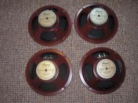 "Four 30 watt RMS Bugera 8"" 8G30A4 Guitar Speakers 4 ohm Impedance"