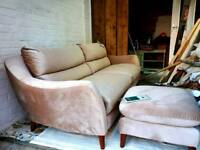 Brand new velvet sofa from furniture village