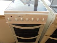 Hotpoint fan assistant oven cooker ceramic top 50 cm wide can deliver it n fit it