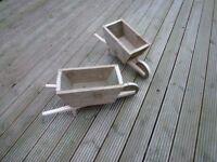 Small Rustic handmade wheelbarrow planter