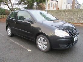 2007 VOLKSWAGEN POLO BLACK 3 DOOR LONG MOT