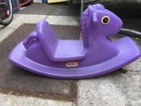 Children's garden toy rocking horse (Little tykes)