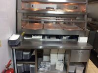 Henny Penny HCW hot chicken display, FAST FOOD used