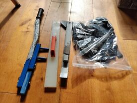 Tools for laying wooden flooring and decking