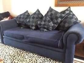 Comfortable Homely Navy Sofa cheap