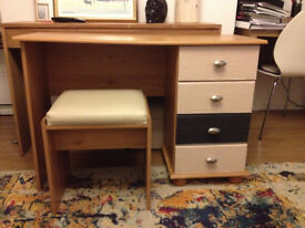 Pretty vanity table and stool - in good condition