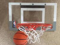 Mini basketball hoop and ball
