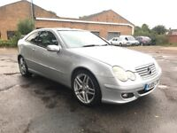 Mercedes c180k SE compact panoramic amg alloys silver
