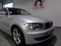 BMW 1 SERIES 1.6 PETROL 3 DOOR HATCHBACK 2008 SILVER MANUAL BARGAIN CHEAP
