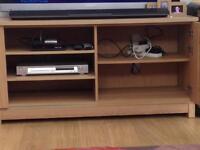 Oak veneer tv cabinet & side unit