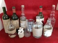 Decorative bottles and jars