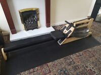 WaterRower A1 Water Rowing Machine with official floor mat