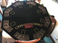 Poker chips and fold up board