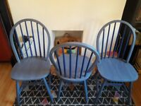Shabby chic vintage wooden hall, bedroom, dining, kitchen, chair (3 off)
