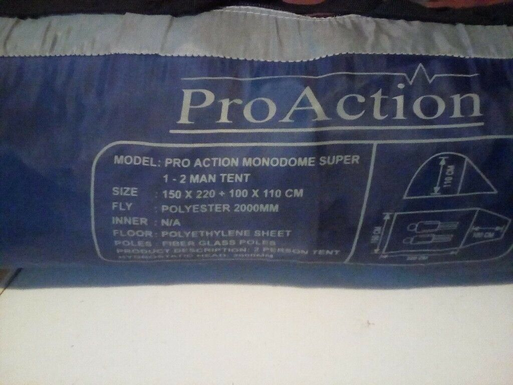Pro Action Monodome Super 1 2 Man Tent