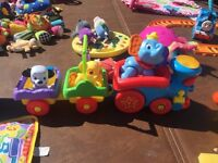 CAN DELIVER Fisher Price Disney Baby Sing Along Choo Choo Train Lights Dumbo Dalmation Lion King toy