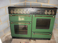 Rangemaster 1110 dual fuel oven and gas hob colour green