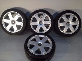 "Original Audi S line 18"" 5x112 8J alloy wheels, comes with tyres, not borbet, ats, azev, hartge"