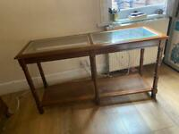 Glass Table with storage option