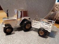 Silver Tractor Money Box