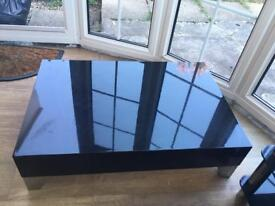 Plush black coffee table cost £300 new £50