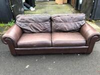 Very nice dark brown 3 seater sofa