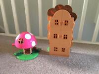 Ben and Holly's treehouse and toadstool