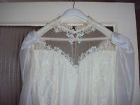 Vintage Ronald Joyce Wedding Dress Size 10