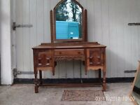 Oak Ladies dressing table/writing desk