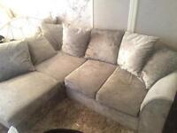 Crushed Velvet—Corner Sofa FOR SALE!!!