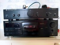 Stereo music system Cambridge amplifier, Sony Tuner &CD player, TEAC Cassette deck, loudspeakers