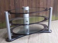 Oval 3 Tear Glass Tv Stand Delivery available