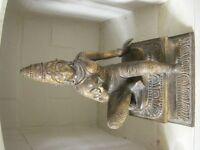 Antique Indian Dancer Carving