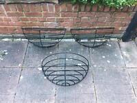 Iron Garden Wall Basket
