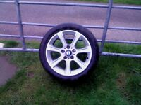 1 BMW 17 in Genuine Alloy Wheel In Excellent Condition with a good tyre, suit spare etc