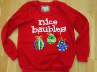 Christmas jumper and slipper boots