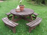 Large pub style 8 to 12 high quality seater picnic bench only 18 months old and very robust