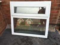 Used white Upvc Window glazed Work shop, shed, garden building W1