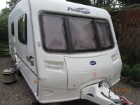 BAILEY PAGEANT MONARCH series 5 , 2 berth 2006 with 8 ft PORCH AWNING