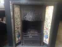 A complete Art Nouveau fireplace