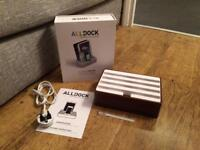 Alldock Medium USB Charging Station - Walnut - New